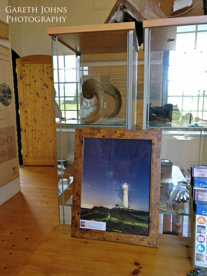 My image of the Lighthouse on display at Flat Holm Island