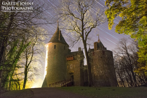 Castell Coch star trail