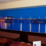 Cefn Mably Hotel Wall Display of Penarth Pier at Night