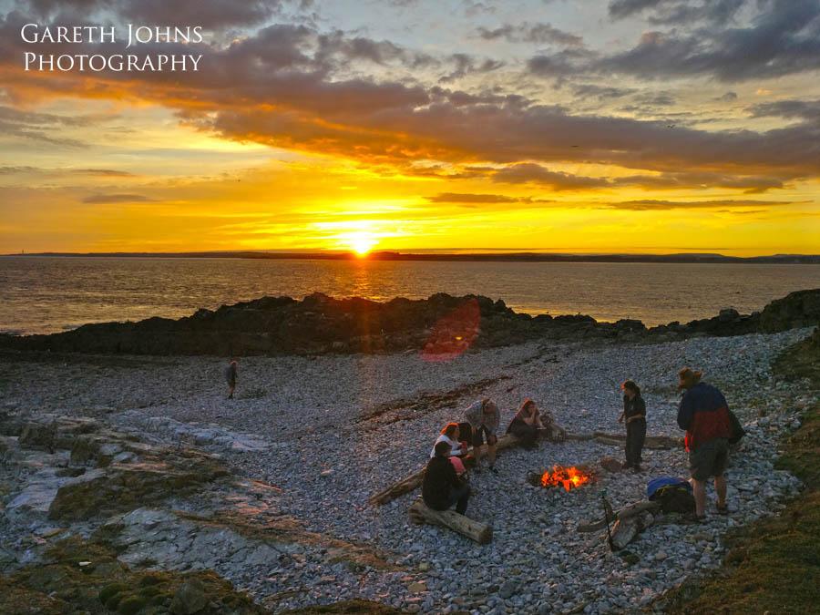 Campfire with RSPB Cymru on Flatholm Island