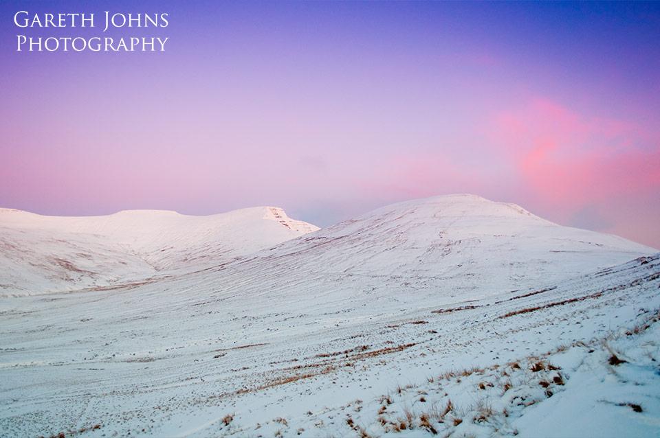 Winter Pen y Fan and Cribyn sunrise